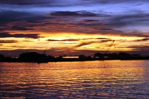 Beautiful sunset at Losari
