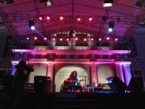Ini waktu Daniel Sahuleka perform di Kota Tua Creative Festival. Photo taken by @efenerr